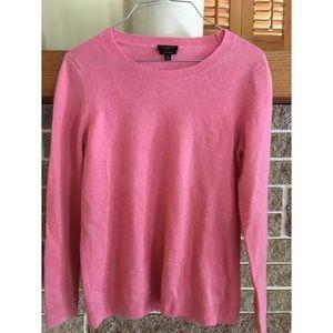 Talbots Cashmere Pink Sweater. Size M